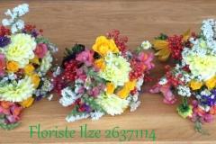 Nelieli krāsainu ziedu apsveikuma pušķi