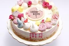 Biezpiena krēma tortite bērnam jubilejā