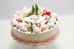 Torte ar biezpiena krēmu ogu krēmu