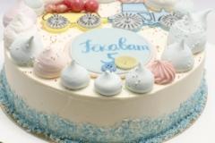 Bērnu torte ar biezpiena krēmu un avenēm