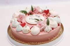 Maskarpones - aveņu torte ar spoguļglazūru