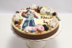 Šokolādes bērnu torte ar robotu