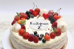 Biezpiena- ogu torte bērnu jubilejā
