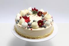 Dievīgā maskarpones- aveņu tortīte