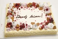 Aveņu- maskarpones torte ar piparkūku un bezē dekoru