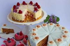Maskarones aveņu torte un medus torte