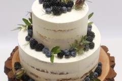 Naked cake ar mellenēm