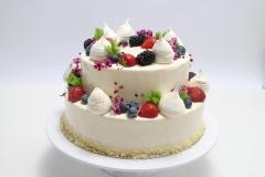 Musa kūka. Maskarpones- aveņu kāzu kūka.