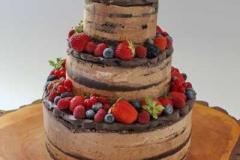 "Sokolādes biskvīta torte ar šokolādes krēmu. ""Naked cake"""