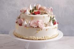 Musa kāzu torte, Kāzu torte ar zeltu. Kāzu torte ar rozēm. kāzu torte ar makarūniem. Divstāvu kāzu torte.