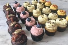 Mini cupcakes ar dažādiem krēmiem