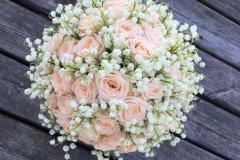 Maijpuķīšu līgavas pušķis - balts, krēmkrāsa, smaržīgs