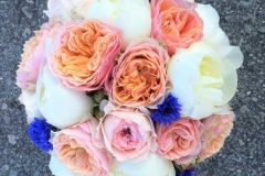 Līgavas pušķis - balts, rozā, laškrāsa