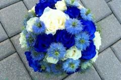 Līgavas pušķis - zils, balts