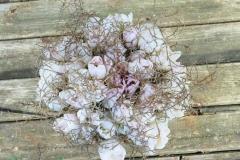 Līgavas pušķis - rozā tulpes un zelts