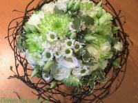 Zaļš līgavas pušķis, meža tēma kāzās