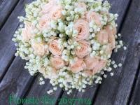 Kreimeņu līgavas pušķis - balts, krēmkrāsa, smaržīgs