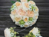 Līgavas pušķis, David Austin rozes
