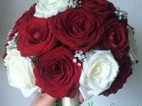 Līgavas pušķis no rozēm