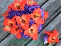 Līgavas pušķis - oranžs, lillā, violets