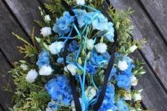 Sēru štrauss - zilas hortenzijas