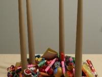 Adventes vainags bērniem no rotaļlietām, 30cm.