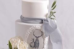 Kāzu torte ar zīmējumu