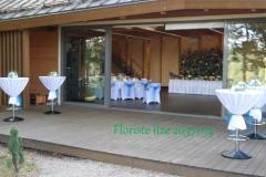 Dekorēta terase kāzās. Reiņa trase
