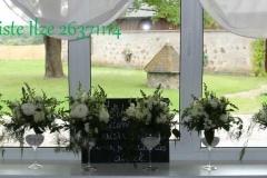 Balti ziedu dekori kāzās. Kalna žagari
