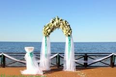 Laulības ceremonijas arka. Villa Anna