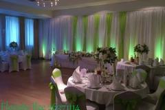 Kāzas gaiši zaļā un baltā krāsā. Kāzas Bellevue Park Hotel Riga