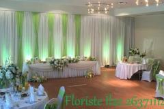 Kāzu svinību zāles dekori. Kāzas Bellevue Park Hotel Riga
