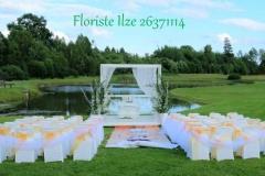 Laulības ceremonijas vietas noformējums. Debesu bļoda