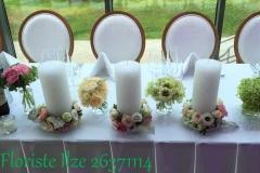 Sveču noformējums kāzām. Ziemeļblāzma