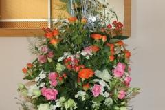 Krāsains ziedu dekors