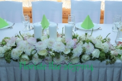 Klasisks galda dekors kāzās. Laimes ligzda