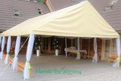 Āra telts noformējums. Laimes ligzda