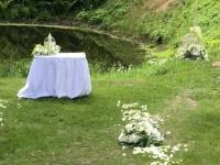 Ceremonija Botāniskajā dārzā