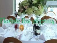 Augstā ziedu kompozīcija - hortenzijas, rozes