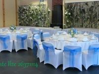 Ziedu sienas kā bāra un kafijas galda noformējums. Reiņa trase