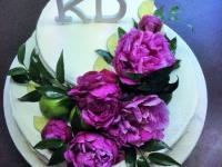 Tematiskā torte - peonijas un laimi