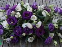 Violets galda dekors