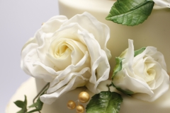 Kāzu tortei cukura masas pārklājums, cukura rozes
