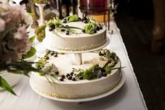 Viegla, ogaina, vasarīga kāzu torte