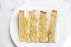 Ar vaniļas biskvītu citronu krēmu
