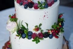 Meža tēma kāzu tortei