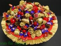 Pušķis ar 500 gramiem gardu šokolādes konfekšu.