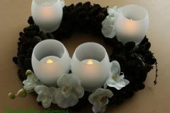 Baltas orhidejas, LED sveces