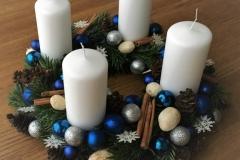 Ziemassvētku zils, sniegpārslas