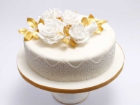 Zelta kāzu jubilejas torte